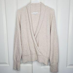 MICHAEL Stars Merino Wool Wrap Sweater Xlarge